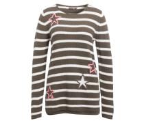 Pullover - weiss/ khaki