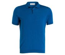 Feinstrick-Poloshirt RHODES - blau