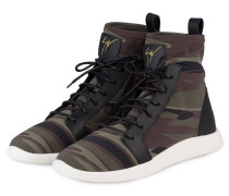 Hightop-Sneaker - khaki/ braun/ schwarz