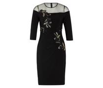 Kleid mit 3/4-Arm und Paillettenbesatz
