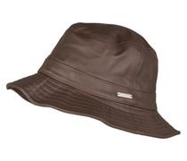 Bucket-Hat aus Leder