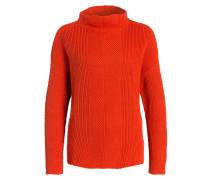 Pullover mit Stehkragen - orange