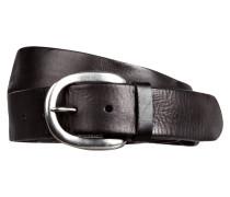 Ledergürtel LKB501 - schwarz