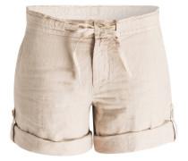 Leinen-Shorts - beige