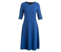 Kleid mit 3/4-Arm - blau