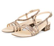 Sandaletten - BEIGE/ GOLD