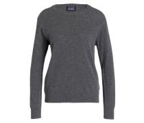 Cashmere-Pullover - dunkelgrau meliert
