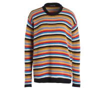 Pullover - orange/ blau/ schwarz