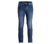 Jeans J688 Slim-Fit - 3 dkl blau