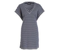 Jersey-Kleid - navy/ beige gestreift