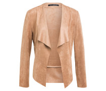 Blazer in Veloursleder-Optik