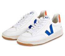 Sneaker V-12 - WEISS/ BLAU/ ORANGE