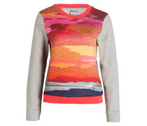 Sweatshirt - grau/ rosa/ orange