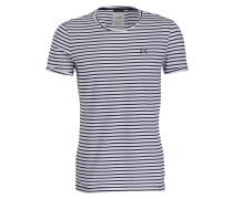 T-Shirt SHORE - weiss/ navy gestreift