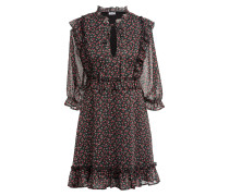 Kleid mit 3/4-Arm und Glitzergarn