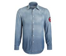 Jeanshemd Slim-Fit - blau