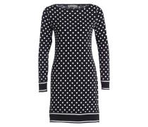 Jerseykleid - schwarz/ weiss gepunktet