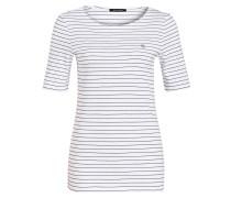 T-Shirt - weiss/ schwarz gestreift