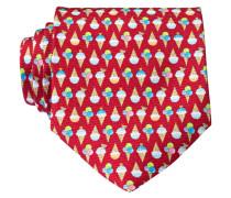 Krawatte - rot/ weiss/ gelb