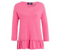 Pullover mit Schößchen - pink