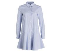 Blusenkleid - blau/ weiss gestreift