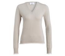 Pullover mit Cashmere-Anteil - beige