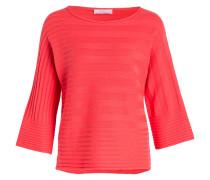 Pullover mit Cashmereanteil - koralle