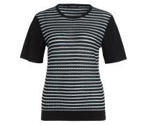 Pullover - schwarz/ weiss/ türkis