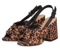 Sandaletten - BEIGE/ SCHWARZ