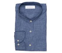 Leinenhemd Tailored Fit mit Stehkragen
