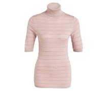 Rollkragenpullover - rosa