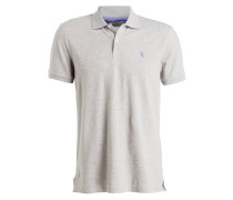 Piqué-Poloshirt - hellgrau meliert