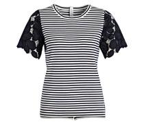 T-Shirt - navy/ weiss