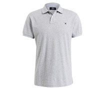 Piqué-Poloshirt Classic-Fit - grau meliert