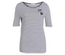 T-Shirt - navy/ wollweiss gestreift