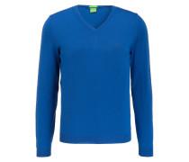 Schurwoll-Pullover C-CALLUM - blau