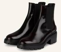 Chelsea-Boots - DUNKELROT