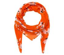 Tuch - orange/ weiss/ rosa