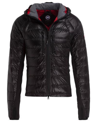 Lightweight-Daunenjacke - schwarz/ rot