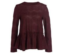Pullover mit Schößchen - burgunder