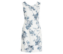 Kleid - offwhite/ blaugrau