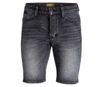 Jeans-Shorts BIKER Loose-Fit - anthrazit