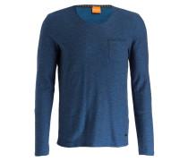 Langarmshirt TYPES - blau