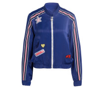 Blouson mit Patches - royal/ weiss/ rot