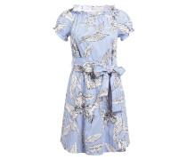 Kleid - hellblau/ weiss gestreift