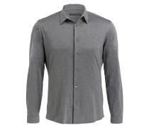 Jersey-Hemd RUBEN Slim-Fit - grau meliert