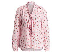 Schluppenbluse - rosa/ rot