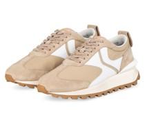 Plateau-Sneaker QWARK - BEIGE/ WEISS