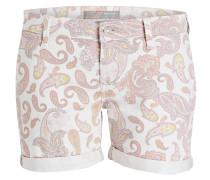 Jeans-Shorts CAMILLA - ecru/ rosé/ gelb