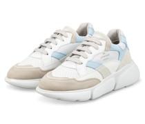 Plateau-Sneaker - WEISS/ HELLBLAU/ BEIGE